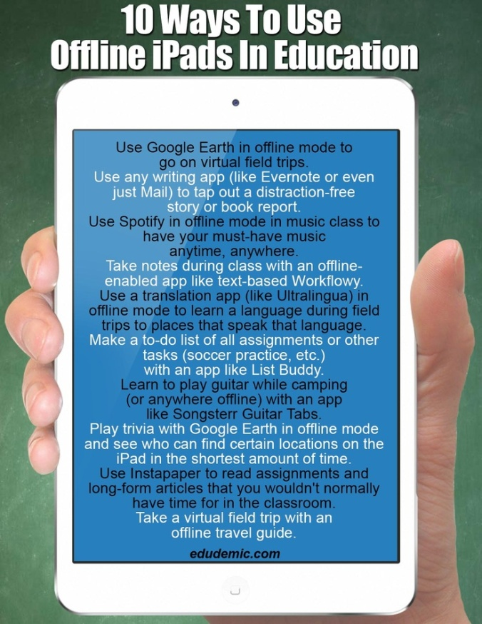 10 Ways to Use Offline iPads in Education