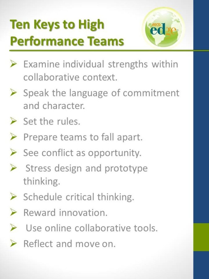Ten Keys to High Performance Teams