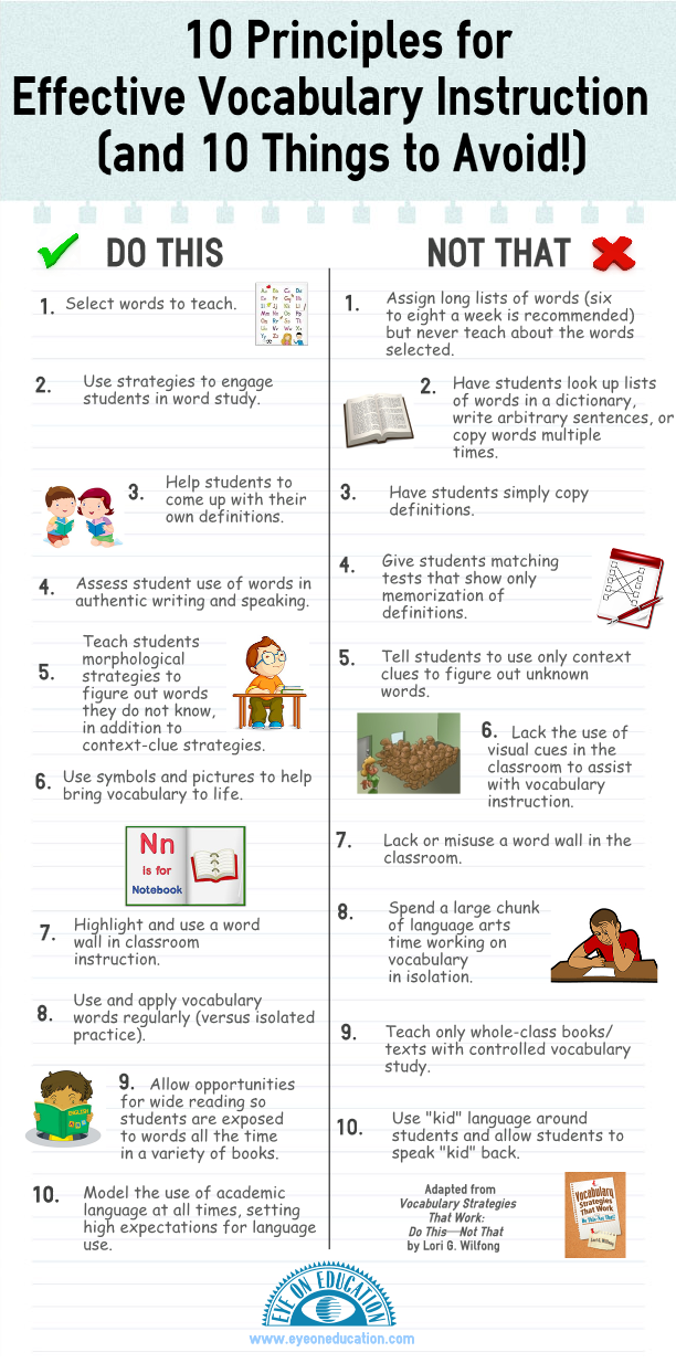 10 Principles for Effective Vocabulary Instruction