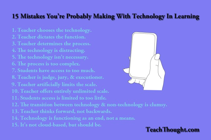 15 Mistakes Every Teacher Should Avoid when Using Technology in the Classroom