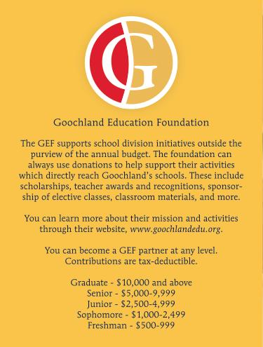 Goochland Education Foundation Needs You!